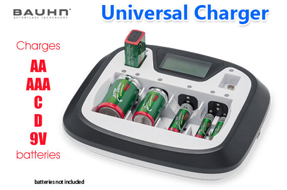 Factory Repacked BAUHN Universal Battery Charger