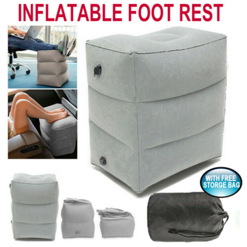 Inflatable Foot Rest Travel Air Pillow Cushion