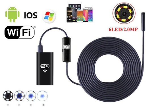 6LED Wireless Endoscope Inspection HD Camera for Android iPhones