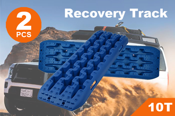 NEW Pair Recovery Tracks Sand Track 2pc 10T Sand / Snow / Mud Trax 4WD Blue