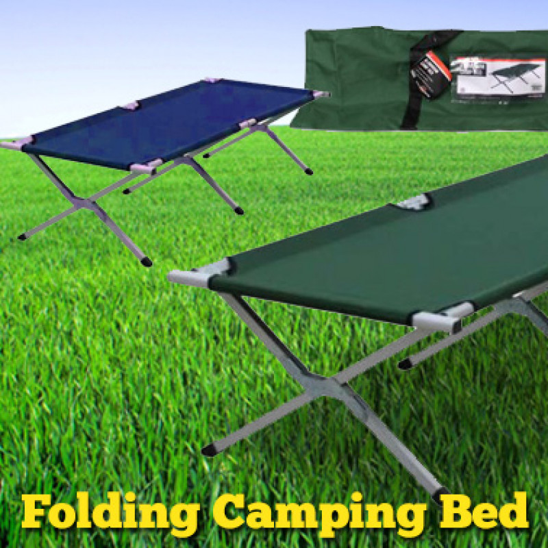 Portable Folding Camping Bed w/ Carry Bag