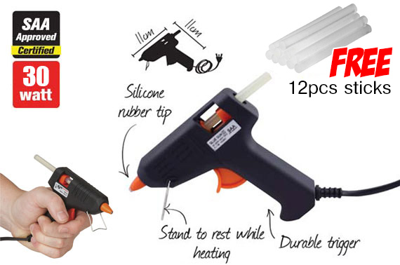30w Hot Melt Glue Gun with 2 Glue Sticks