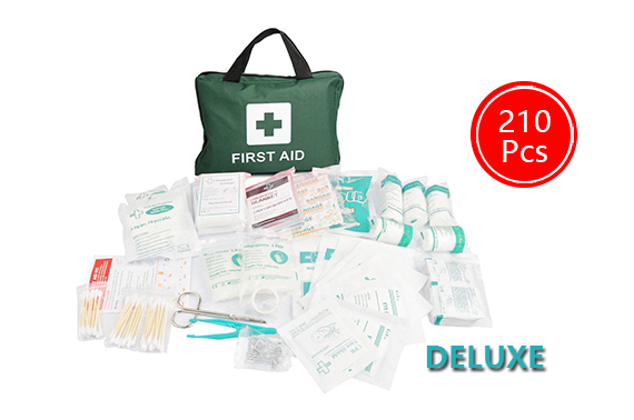 GREEN 210pcs First Aid Kit Family Supplies Survival Medical Workplace Travel Set