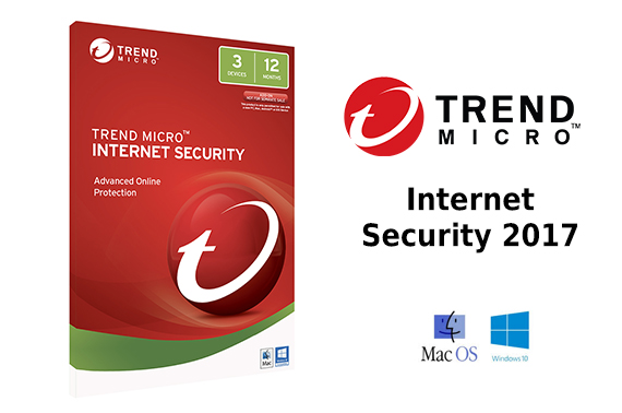 Trend Micro Internet Security 2017 (1-3 Devices) 1 Year OEM