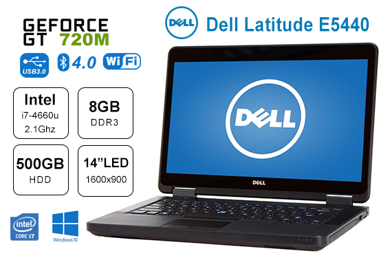 Refurbished Dell Latitude E5440 i7-4600u 2.1Ghz 8GB 500GB HDD 14
