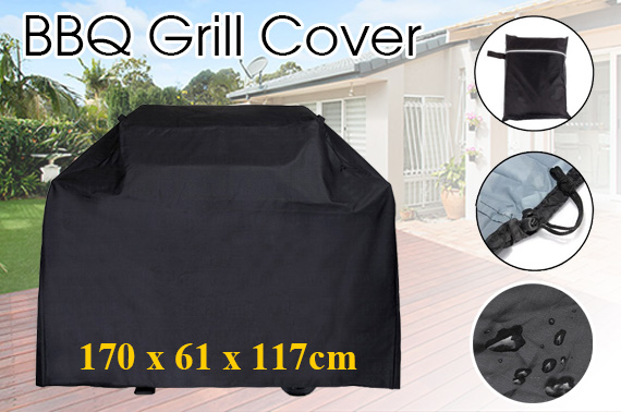 Waterproof BBQ Grill Cover Protector w/ Bag