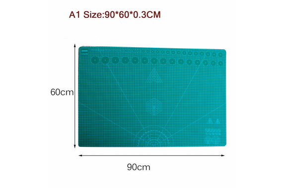 A1 5-Ply Self Healing Cutting Mat Craft DIY Grid Lines 2 Side Thick PVC