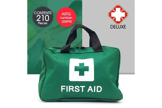 210pcs First Aid Kit Family Supplies Medical Workplace Travel Set