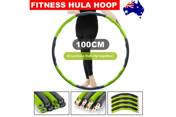 100CM Foam Padded Weighted Waist Fitness Hula Hoop Body Massage Exercise Hoola