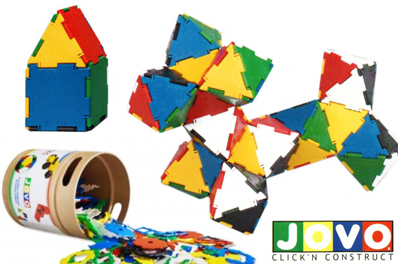 160pcs JOVO Click 'N' Construct System Toy