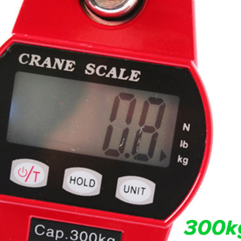 Mini Portable Crane Hanging Digital Scale w/ LCD Display 300kg/0.1kg