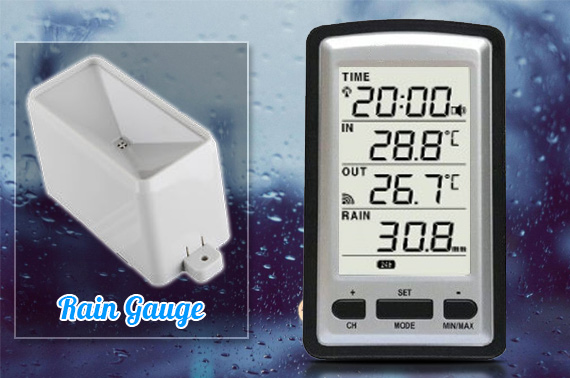 Digital Wireless Weather Station with Rain Gauge