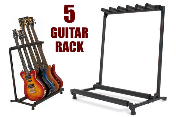 5 Space Guitar Rack - Suits 5 Guitars or 3 Acoustic