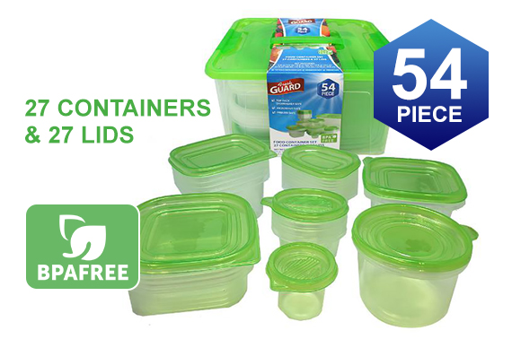 54pcs Fresh Guard Food Storage Container Box Set
