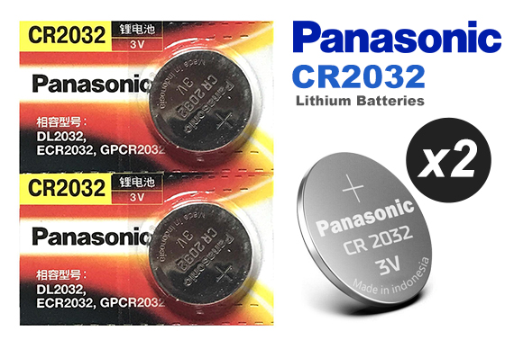 Free Ozstock Deal: 2x Genuine Panasonic CR2032 Battery 3V Lithium Batteries Button