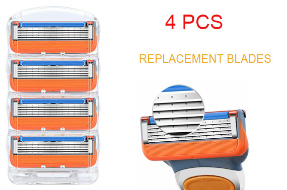 4pcs Replacement Blades for Gillette Fusion 5 Razors Power ProGlide Shaving