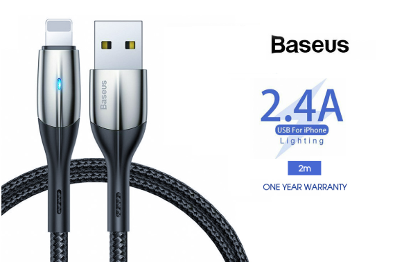 Baseus Lightning Cable Fast Charging Charger Cord for iPhone XS XR 8 7 6 iPad