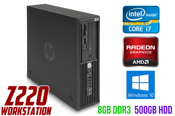 Refurbished HP Z220 SFF Workstation Desktop PC