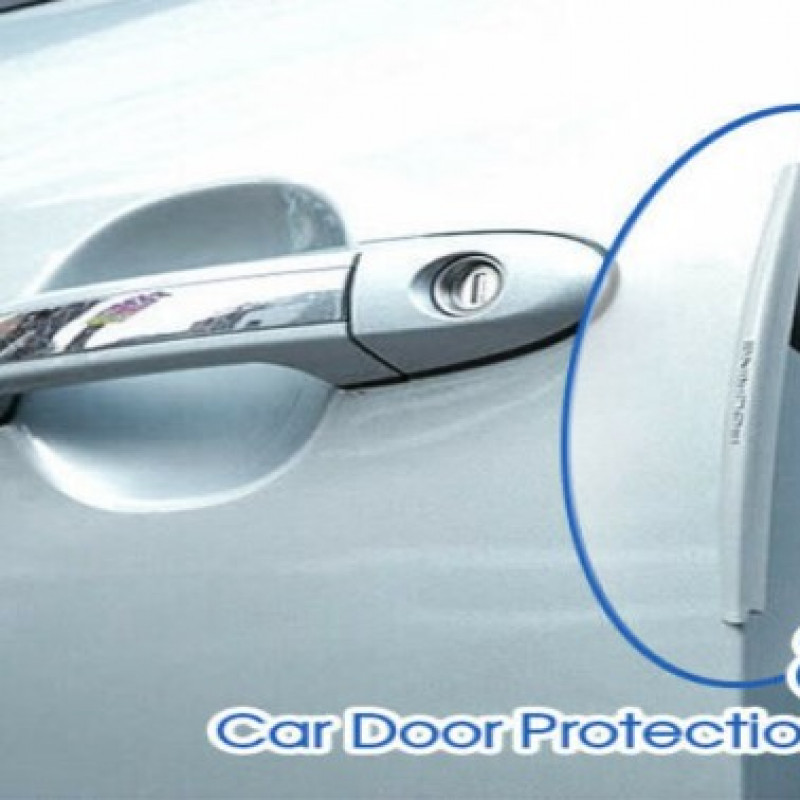 8PCS Clear Car Side Door Edge Defender Protector Trim Guard Protection Strip