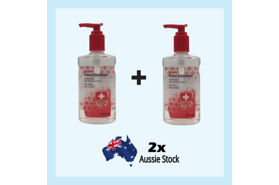 2x Instant Antibacterial Sanitiser Sanitizer Travel Size Cleanser 237ml with pump