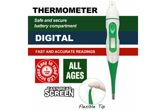 LCD Flexible Tip Digital Body Thermometer Adult Child Baby