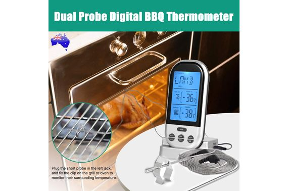 Digital Dual Probe Kitchen Food Meat BBQ Cooking Thermometer Temperature Remote