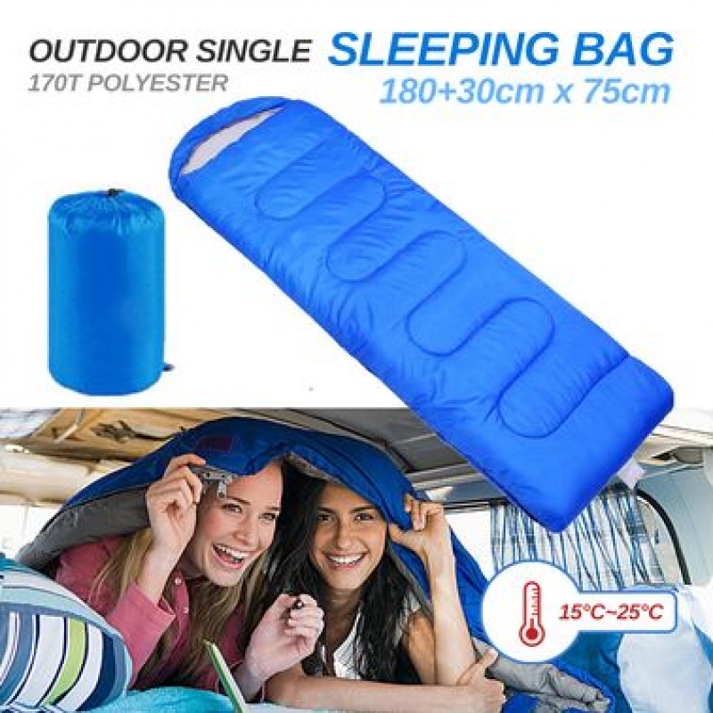 Sleeping Bag Bags Single Camping Hiking Tent Winter 210x75cm