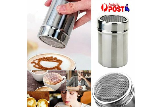 Stainless Steel Icing Sugar Cocoa Coffee Shaker Flour Duster Chocolate Powder