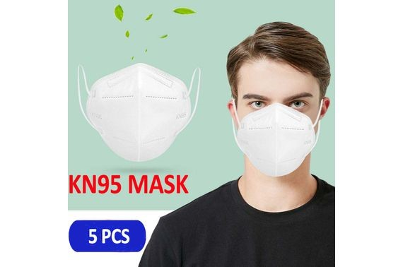 5PCS KN95 Face Mask Anti Pollution Dust Masks Protective Facial Mask Unisex