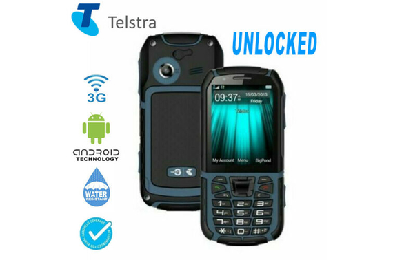 Telstra Tough 4 ZTE T55A IP67 Waterproof, Rugged 3G WATERPROOF Phone UNLOCKED