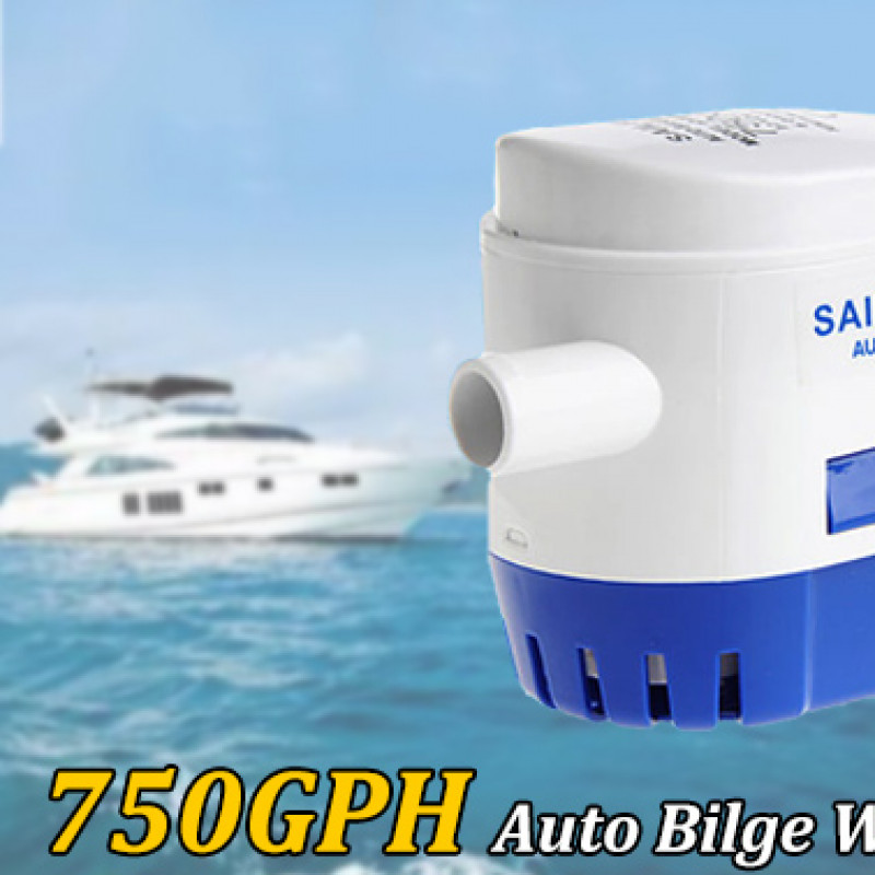 750GPH 12V Boat Submersible Auto Bilge Water Pump