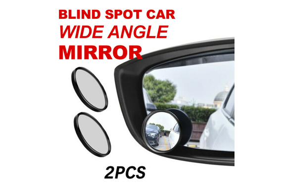 2pcs Blind Spot Mirror Car Rear Side View Convex Wide Angle round glass 2