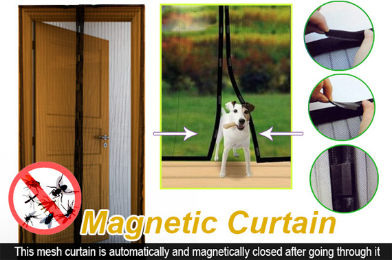 Magnetic Fly Screen Door Mesh Curtain