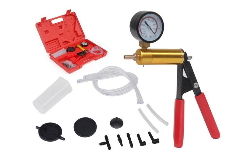 Hand Held Brake Bleeder & Vacuum Pressure Tester Pump - Brake Bleeding Kit
