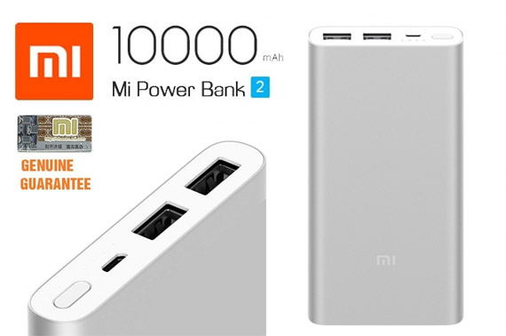 Genuine Xiaomi Portable Power Bank 2 10000mAh - Silver