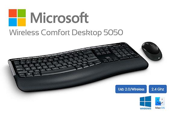 7169f196db7 Microsoft Wireless Comfort Desktop 5050 Series Usb Mouse & Keyboard