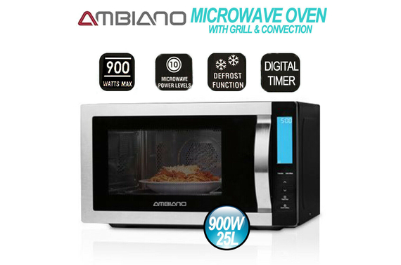 Refurbished AMBIANO Microwave Oven 25L with Grill and Convection