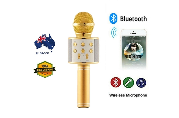 Wireless Speaker Karaoke Microphone Bluetooth 4.0 Q9 for iPhone Samsung Android