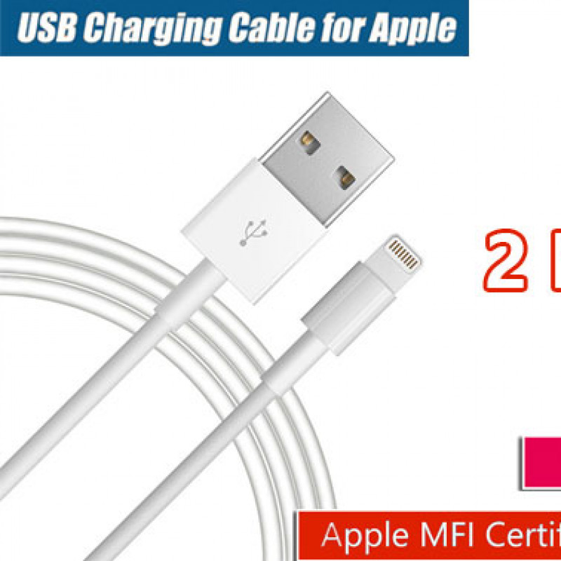 2m USB Lightning Data Charging Cable for Apple iPhone 6 7 8 X iPad