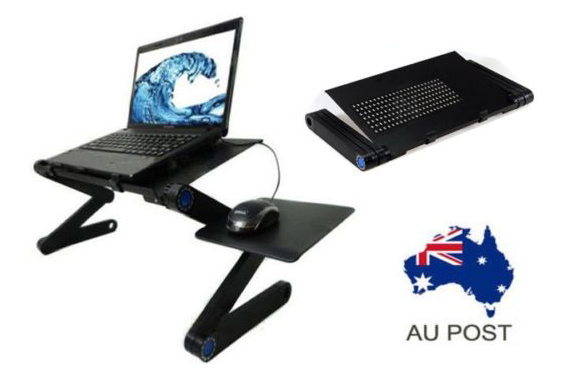 Portable Foldable Laptop Stand/Tray/Desk/Table w mouse pad