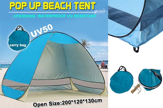 Pop Up Portable Beach Sun Shade Shelter Tent