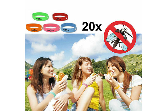 20x Anti Mosquito Repellent Wrist Band Camping Hiking Home Non-toxic Substances