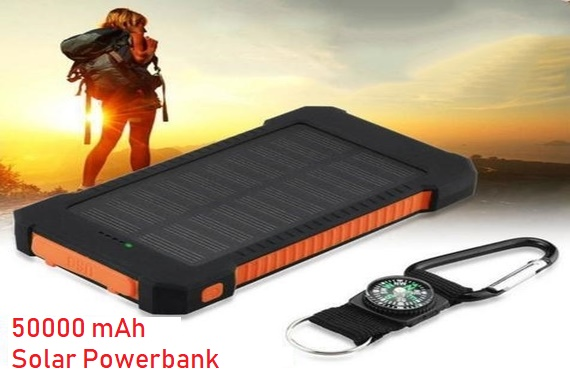 50000mah Solar Power Bank Portable Dual USB Phone Charger