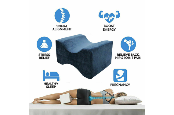Washable Pain Relief Leg Cushion Knee Support Memory Foam Pillow