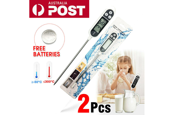 2X Digital Food Thermometer Cooking Meat Stab Probe