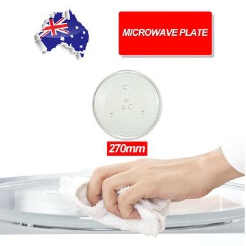 27cm Microwave Oven Platter Turntable Glass Tray Glass Plate Dia AU